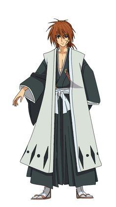 An Anime crossover of Kenshin Himura(Rurouni Kenshin) as a Gotei 13 Captain(Bleach) Captain Kenshin Himura Anime Crossover Rurouni Kenshin, Kenshin Anime, Fantasy Male, Anime Fantasy, Fan Anime, Anime Nerd, Anime Love, Bleach Fanart, Bleach Anime