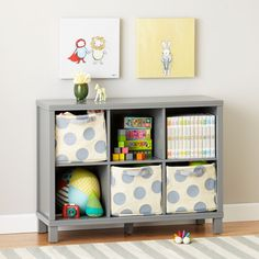 """Messes tend to come in all shapes, sizes and volumes. Luckily, our exclusive Cubic Collection is available in multiple configurations so you can keep things squared away. It's perfect for any playroom, bedroom, living room, or any place in your house that ends in """"room."""" Choose from four versatile finishes.<br /><br /><NEWTAG/><h2>Safety first</h2><ul><li> Includes Tip Restraint Kit for securing bookcase to your wall to prevent tipping</li></ul><h2>Details, details</h2><ul><li> Nod…"""
