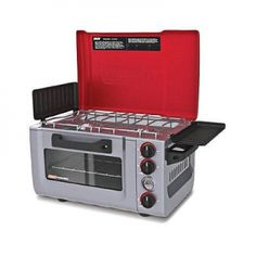 Coleman Signature Propane Camp Stove Party Portable BBQ Oven Chef New Free Ship. Ideal for barbecues, tailgates and campsites, this outdoor propane camp stove allows you versatility when cooking meals in the great outdoors. Designed with an oven and stove-top, this outdoor propane camp stove has the ability to cook all of your favorites. The battery-assisted electric ignition gives you dependable ignition for the stove's two 6000 BTU burners and oven's 3000 BTU burner. Runs off standard…