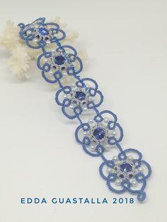 Tatting Bracelet, Tatting Jewelry, Tatting Lace, Tatting Patterns, Knit Crochet, Chokers, Bracelets, Necklaces, Beads