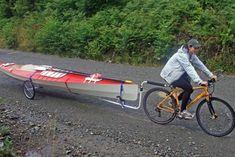 different bike trailers #kayakbikertrailer
