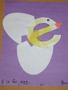 Letter E-Eggs