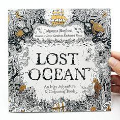 1 개 24 페이지 분실 바다 Inky 모험 색칠 어린이 성인 스트레스 킬 시간 그리기 그림 아트 책
