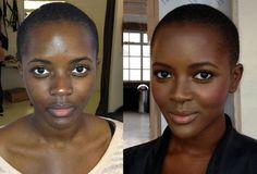 top make-up picks for really dark skin Power Of Makeup, Love Makeup, Makeup Tips, Makeup Looks, Makeup Products, Awesome Makeup, Crazy Makeup, Contour For Dark Skin, Dark Skin Makeup