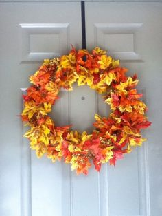 fall wreath #fall #wreath #crafts