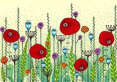 Poppy Meadow by+EnchantedCrayons