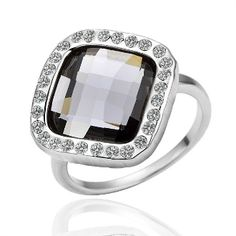 18K Platinum Plated Swarovski Crystal Ring What's not to love! SPARKLES!