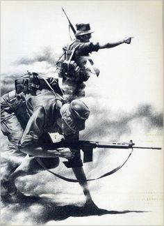 Badcock, Peter: 1981 - Images of War Military Art, Military History, South Afrika, Tactical Survival, Tactical Gear, Army Day, Korean War, My Heritage, African History