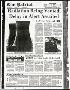 March 28, 1979:  A nuclear reactor in Middletown, PA at the Three Mile Island station overheats. While a meltdown was averted, it is still recognized as the most serious nuclear accident in US history.