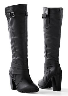 Pair these boots with leggings and a Venus sweater for a stylish winter look! Venus double strap boot.