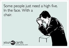 Some people just need a high five so badly.