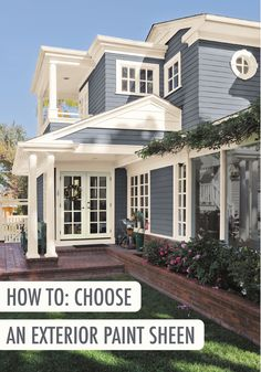 Check out this guide on how to choose the perfect exterior paint sheen and you'll be checking a project off your spring home improvement list in no time. Check out BEHR paint to find the ideal shade to add curb appeal.