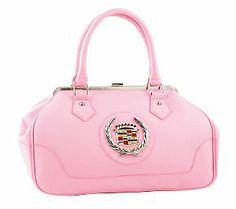 Elvis Presley Pink Cadillac Pebble Embossed Vinyl Shoulder Handbag