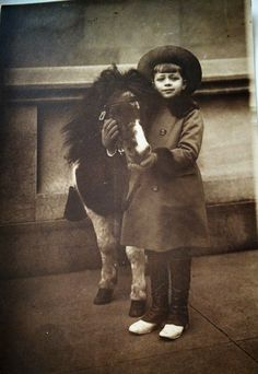 JIMMY DONAHUE Childhood photo with PET PONY, grandson of FW Woolworth