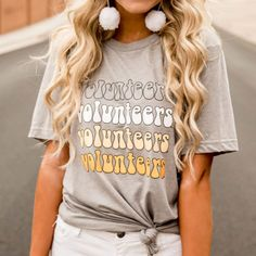 Happy Volunteers Short Sleeve - Southern Made Tees Tennessee Vols Shirts, Tennessee Volunteers Football, Ut Game, University Of Tennessee, Clothing Co, Shirt Designs, T Shirts For Women, Volunteer Appreciation, Appreciation Gifts