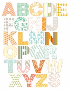 "Love this adorable alphabet to print on magnet paper (scroll down and click ""alphabet for magnet paper"")"