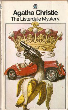 Banana Gun Crown Mystery Novel Agatha Christie Cover...of course