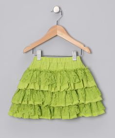 Look at this Sophie Catalou Citron Ruffle Lace Skirt - Infant & Toddler on #zulily today!