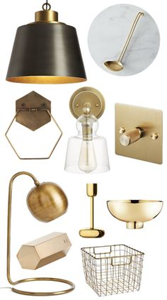 1/30/15 Shiny Brass Accents - Looove the hexagonal hex hexagon towel ring!