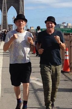 Sir Patrick Stewart and Sir Ian McKellen - This pic reminds me of the Thompson Twins from Tintin.