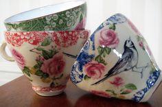 Tekopp Sädesärla från Anna Keramik