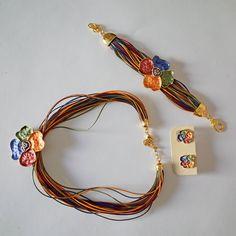 Lindos conjuntos colar, pulseira e brincos | TU! a tua loja de artesanato moda e design