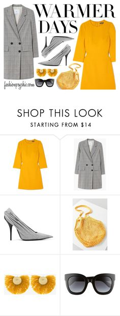 """""""Warmer Days"""" by fashionpsychic on Polyvore featuring Dolce&Gabbana, MANGO, Balenciaga, Urban Outfitters, Katerina Makriyianni, Gucci and springdresses"""