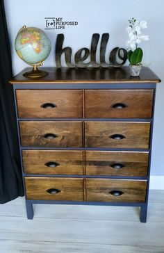 How to do a modified dresser using old furniture. Removing the front trim helps to modify the look of this vintage dresser. Photo tutorial shows you how to.