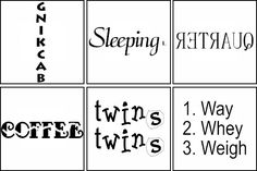Free Word Puzzles - Wuzzles