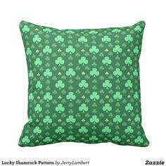 Lucky Shamrock Pattern Throw Pillow