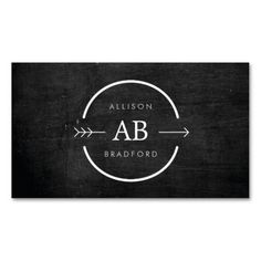HIP and EDGY MONOGRAM LOGO with ARROW on BLACK WOOD Business Cards. I love this design! It is available for customization or ready to buy as is. All you need is to add your business info to this template then place the order. It will ship within 24 hours. Just click the image to make your own!
