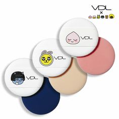 VDL Tension Puffs (KAKAO FRIENDS) 2pcsA wet sponge that evenly applies foundation and enhances adherence. available at Beauty Box Korea