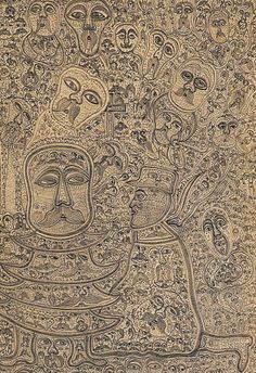 Edmund Monsiel, a Polish shopkeeper, started drawing during the Second World War. Hiding in a dark attic, by the light of a candle, he began drawing his highly detailed pencil works. Featured in RV 10, RV 50 and RV 54. http://rawvision.com/artists/edmund-monsiel