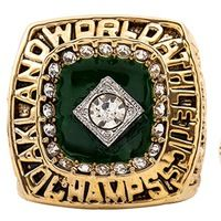 Enamel 2015 Sales Promotion for Replica 1989 Oakland Athletics A's Major League Baseball Championship Ring for Fans
