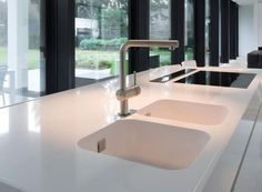 New dekton makai finish benchtop with silestone integrity for Silestone kitchen sinks