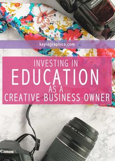 Your creative business can't grow if you don't grow. Check out how I'm investing in my education as a way to grow my business!