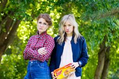 do it yourself divas: DIY Eleven Costume From Stranger Things. White converse shoes styled with pink dress, blue bomber jacket, eggos, black watch, and fake blood. Diy Halloween Costumes, Halloween Cosplay, Cosplay Costumes, Costume Ideas, Group Costumes, Disfraces Stranger Things, Stranger Things Halloween Costume, Eleven Stranger Things Costume, Stranger Things Barb