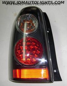 00-05 Ford Escape LED Black/Red/Amber Tail Lights