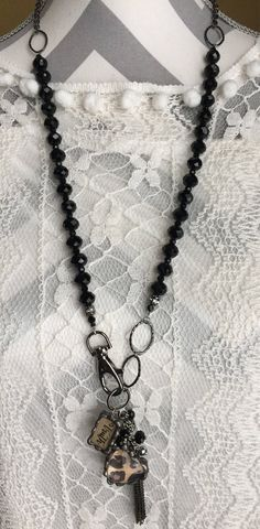 Charmed....how can you go wrong with a touch of leopard?!!! Trust/Love soldered charmed necklace! www.nanettemc.etsy.com