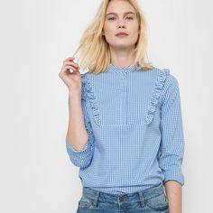 Блузка в клетку виши Soft Grey | купить в интернет-магазине La Redoute