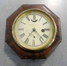 Hi! Fresh from a nice old Maine estate is this early Antique MARINE ONE DAY LEVER ESAPEMENT CLOCK manufactured by E.N.WELCH., FOREST- VILLE,CT.,U.S.A. - in very good repairable antique condition! I am