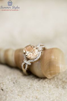 We love Morganite! This ring is perfect all year long, but absolutely stuns in the summer time! [Promotional Pin]