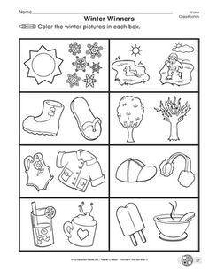 winter worksheets for preschoolers - Google pretraživanje