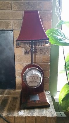 Old GE electric meter converted to lamp and meter really works!