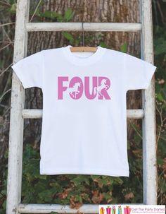 Girls Unicorn Birthday Shirt - Four Unicorn #clothing #children #girl @EtsyMktgTool #birthdayshirt #kidsbirthdayshirt #firstbirthdayshirt