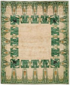 """A Colorful Rug Study: EmeraldGreen"" by Jeanine Hays on @Doris Leslie Blau"
