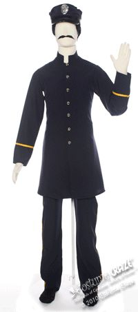 e9c9eca63e1 Keystone Cop Costumes   Vintage Police Officer With A Baton Duvet ...