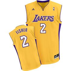 44bc5c2a9ddc Los Angeles LakersDerek Fisher Nba Los Angeles Lakers Derek Fisher 2 Yellow  Authentic Jersey Sale ...