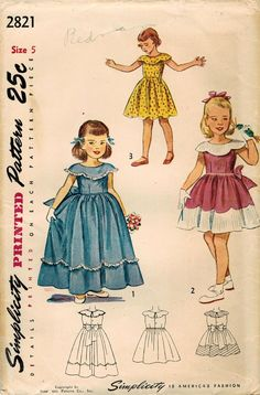 1940s Simplicity 2821 Vintage Sewing Pattern by midvalecottage