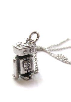 Mini robot necklace